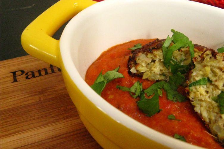 Artichoke 'Kofta' in a Creamy Tomato Makhani Sauce