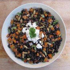 Chipotle Black Bean and Butternut Squash Salad