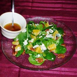 Spinach & Orange Salad w/Honey Lime Dressing