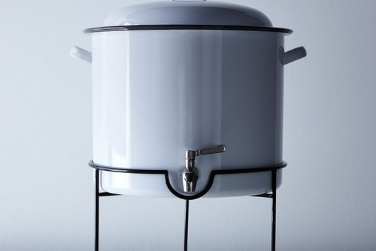 White & Grey Enamel Drink Dispenser