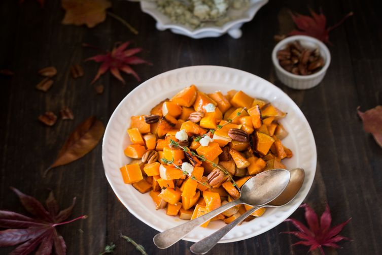Roasted Butternut Squash with Pecans and Blue Cheese Recipe on Food52