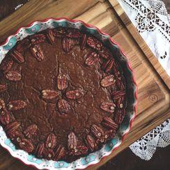 Pumpkin Pie | Buttery Pecan and Date Crust