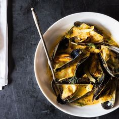 Dinner Tonight: Mussels with Fennel and Sausage + Radish Salad