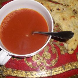 Tomato soup with truffle oil