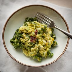 Green Egg Salad - Kale, Avocado and Egg