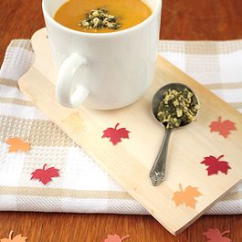 Butternut Squash Coconut Soup with Basil Pesto