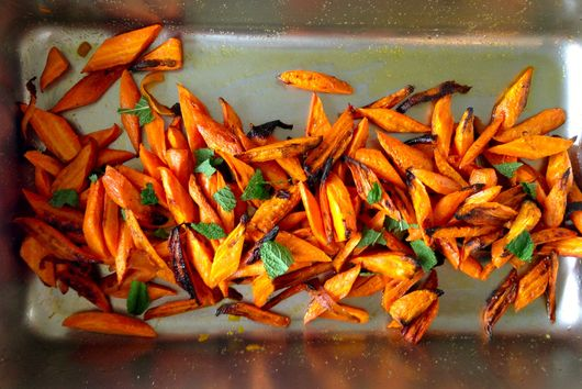 Charred Carrots with Orange Peel and Mint