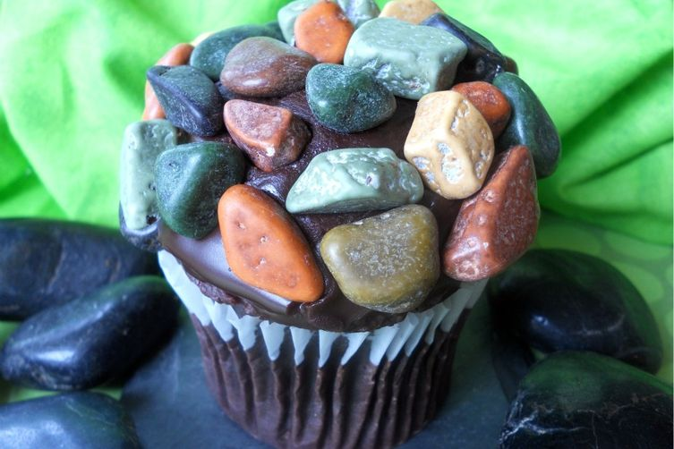 April Fool's Day Rock Cupcakes