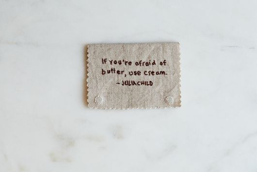 Magnetic Hand-Embroidered Julia Child Bookmark