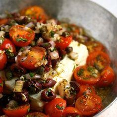 Baked Feta with Mediterranean Tomato Sauce