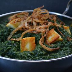 Palak Paneer or Frangrant Spinach Curry with Paneer