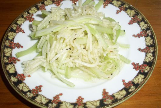 Celery and apple slaw