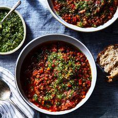 A5513e93 5338 4ed6 b53a 451829dfd4d7  2017 1010 smoky lentil soup with almond picada julia gartland 174