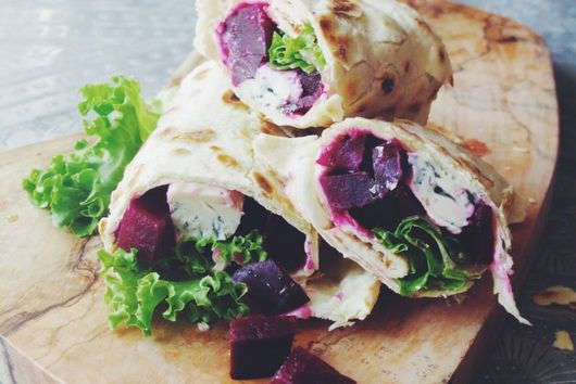 Beetroot & Gorgonzola Wrap