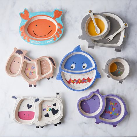 Playful Bamboo Kids' Dinnerware Set