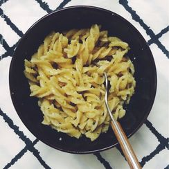 Garlic-Parmesan Fusilli