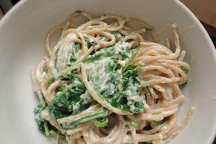 Lemon Ricotta Spaghetti with Arugula