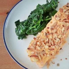 Smothered Salmon with Wilted Spinach