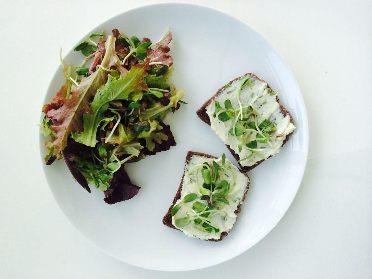 Cashew Cheese Spring Tartine Quick Vegan Lunch Ideas