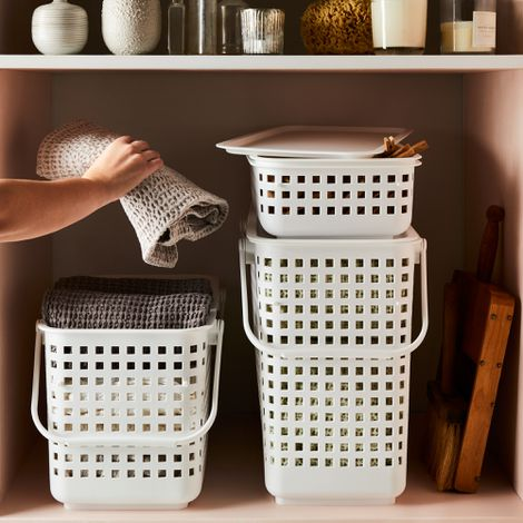 Modular Stacking Baskets with Lid