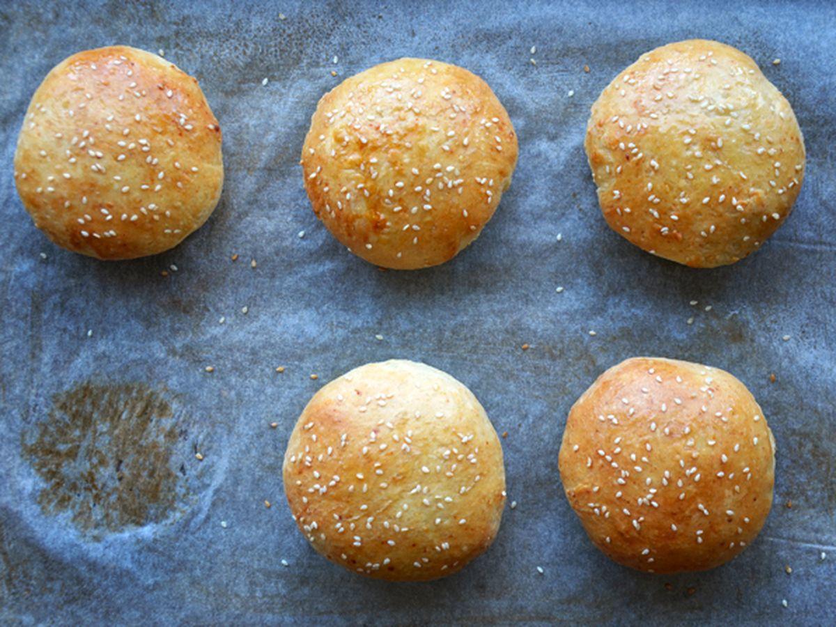 Easy Homemade Parmesan Hamburger Buns Recipe on Food52