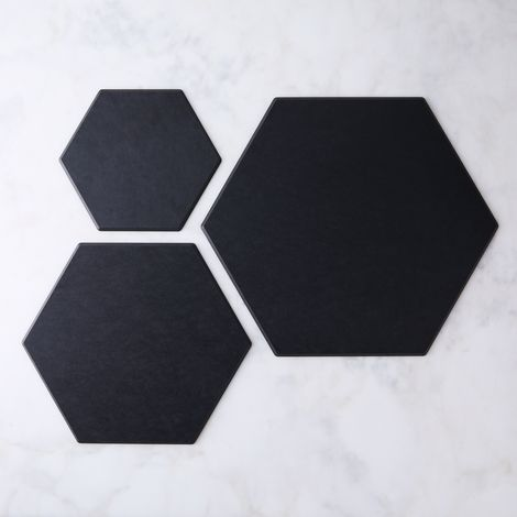Matte Black Hex Boards (Set of 3)