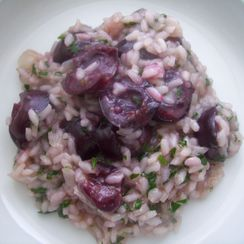 Roasted Cherries Risotto