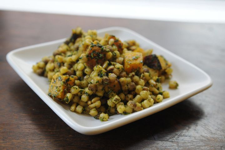 Fregola Sarda with Caramelized Squash and Charmoula