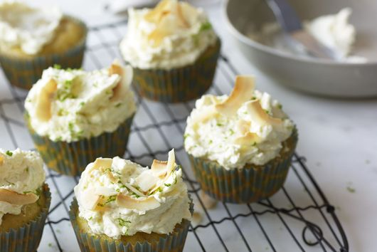 Lime Coconut Rum Cupcakes