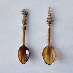 Hand-Carved Horn Spoons (Set of 2)