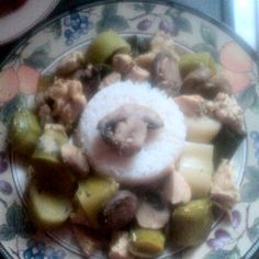 Rosemary Chicken w/Leeks and Mushrooms