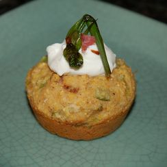 """Spring Onion, Leek, Ramp and Bacon """"Cupcakes"""""""