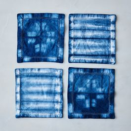 Shibori Cocktail Napkins (Set of 4)
