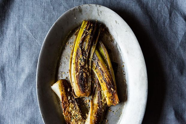 Buttery Braised Leeks with a Crispy Panko Topping from Food52