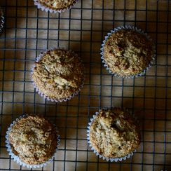 Banana Coconut Whole Wheat Muffins
