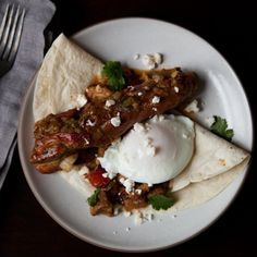 Huevos Rancheros (Country-Style Eggs Topped with Pork and Green Chile)