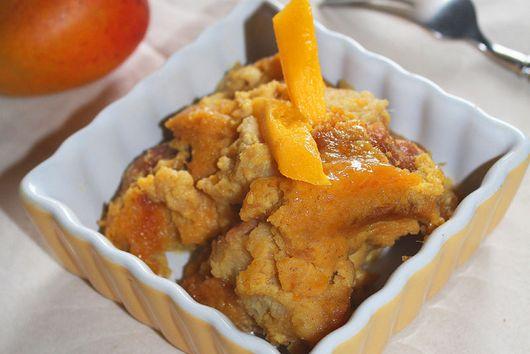 Coconut Mango Bread Pudding