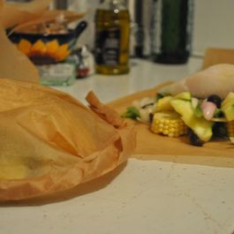 Halibut and Vegetables en papillote
