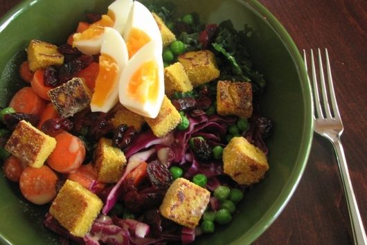 Curried Chickpea Tofu Salad