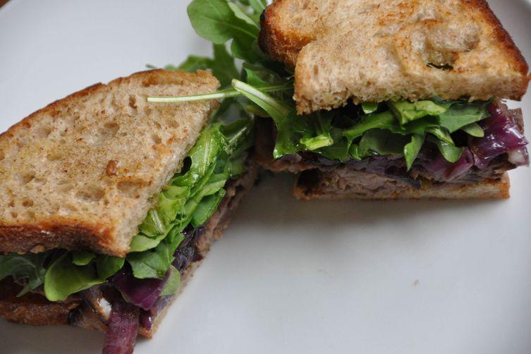 Warm Steak Sandwiches with Caramelized Onions