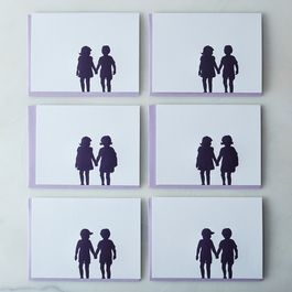 Sweetheart Silhouette Cards (Box of 6)