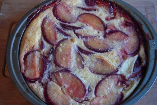 Healthy Indulgence: Black Plum Clafoutis