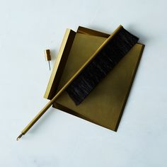 Brass & Horsehair Brush and Dustpan