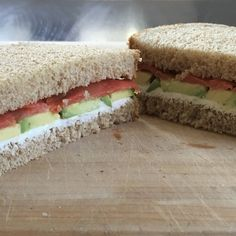 Smoked Salmon, Avocado, and Cream Cheese Sandwich