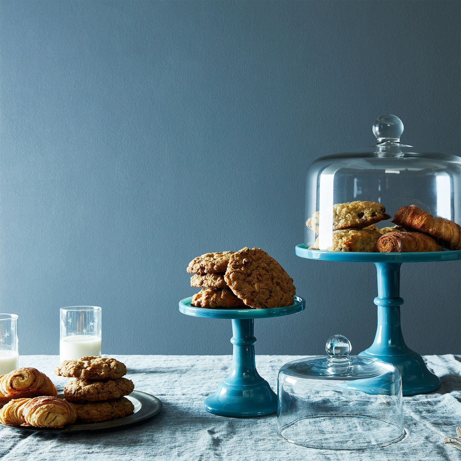 blown glass cake stand dome on food52. Black Bedroom Furniture Sets. Home Design Ideas