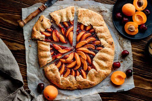 Vegan Apricot & Cherry Galette