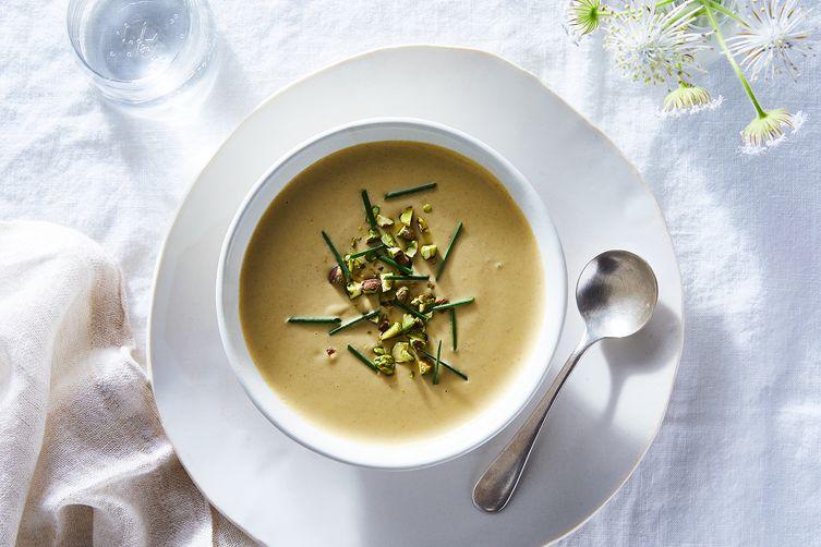 Chilled Corn & Pistachio Soup