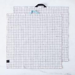 Linen Check Tea Towels (Set of 2)