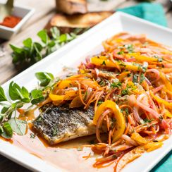 Grilled Barramundi Escabeche