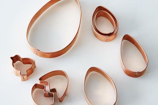 Copper Egg & Chick-Shaped Cookie Cutters (Set of 8)